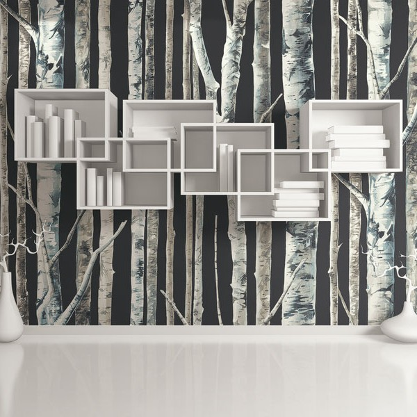 Design Wallcoverings Noir Birch-986837