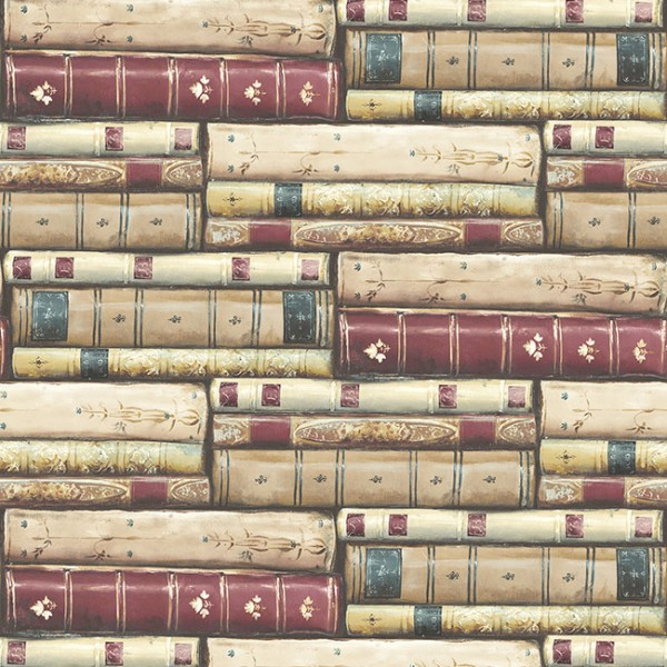 Design Wallcoverings Stacked Books-331330
