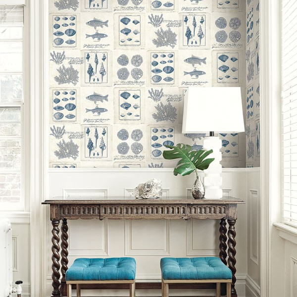 Nautical Wallpaper Cape Cod Frames-785161