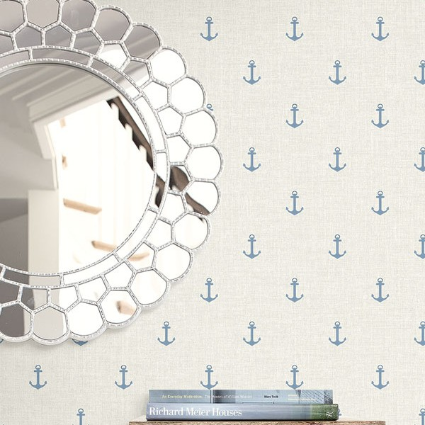 Nautical Wallpaper Anchors-499954