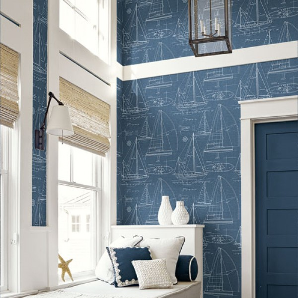 Nautical Wallpaper Boats-788430