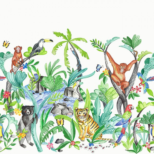 Borders Frieze Jungle Mania-460014