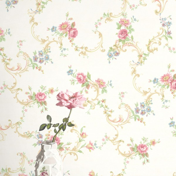 Rustic wallpapers Floral Scroll-494275