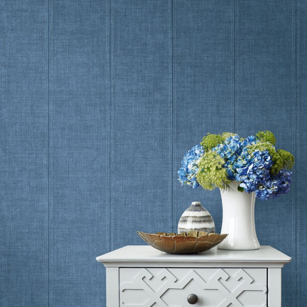 Striped wallcoverings Denim-678805