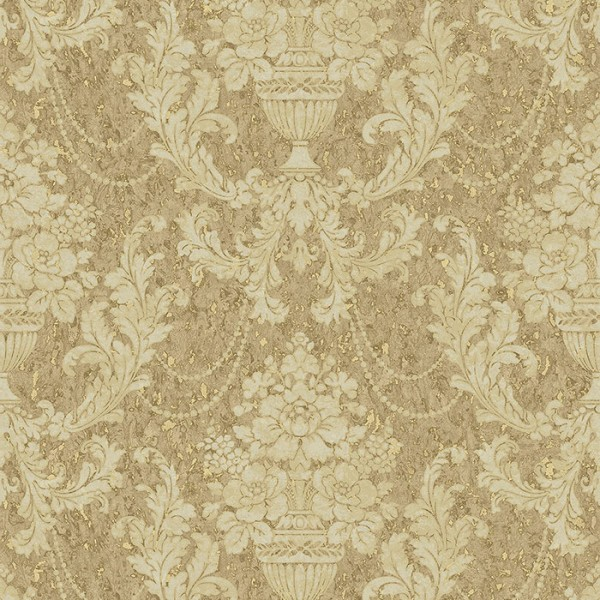 English Style Tapeten Damask on Cork-811872