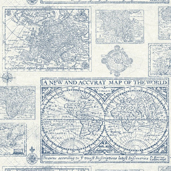 Design Tapeten Map Of The World-A0CD8D