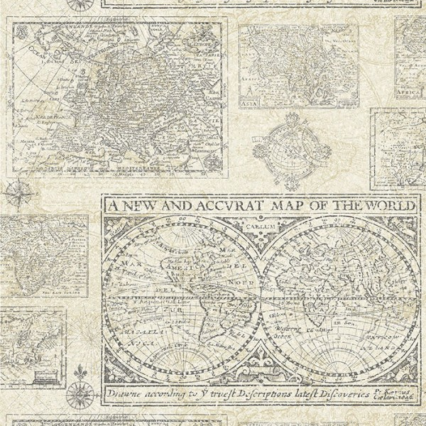 Design Tapeten Map Of The World-89C959