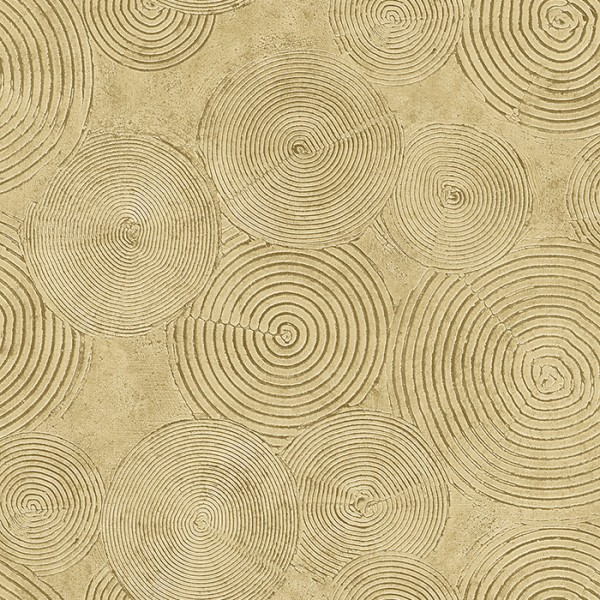 Tapeten Gold Painted Circles-192041