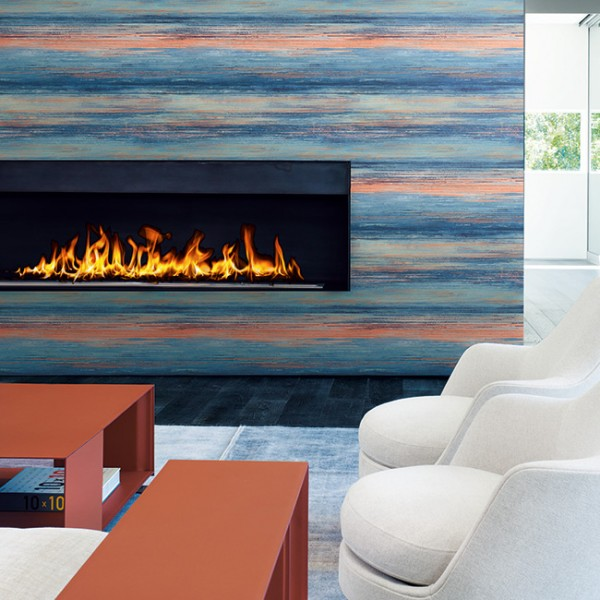 Striped wallcoverings Sunset Faux-321789