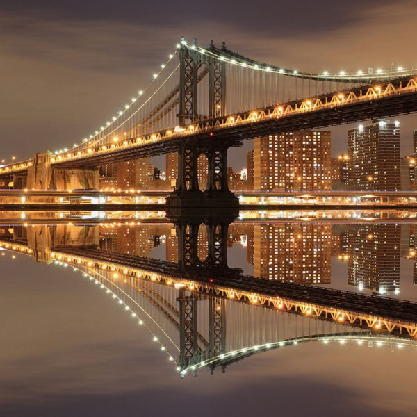 Фотообои Мосты и статуи Manhattan Bridge-C8BA4F