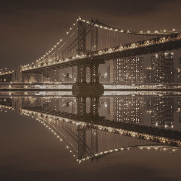 Фотообои Мосты и статуи Manhattan Bridge-D4A0BF