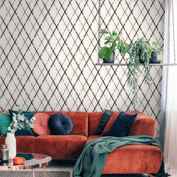 Geometric wallcoverings Noble Argyle-339748
