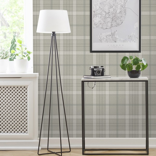 Geometric wallcoverings Plaid Tailored-277014