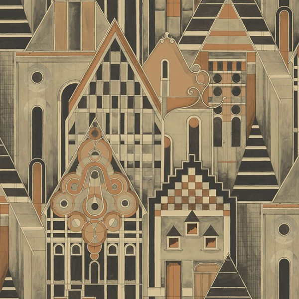 Design Wallcoverings Geometric Houses-217138