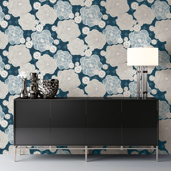 Floral wallpaper Modern Flowers-264217