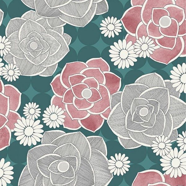 Floral wallpaper Modern Flowers-396746