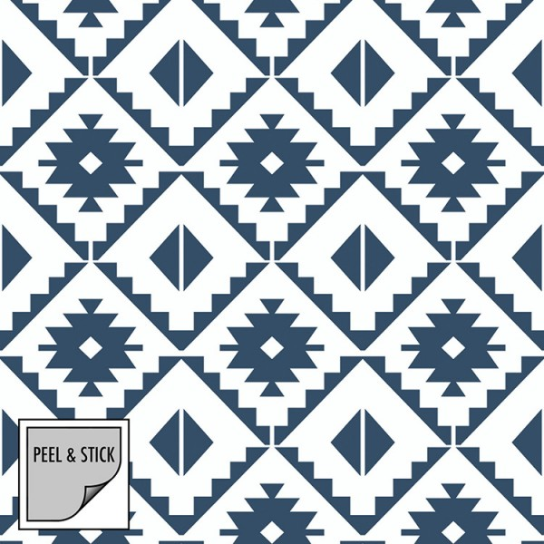 Peel and Stick Wallpaper Oriental Squares-261656