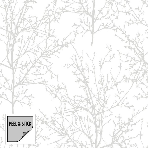 Peel and Stick Wallpaper Leafless Trees-324912