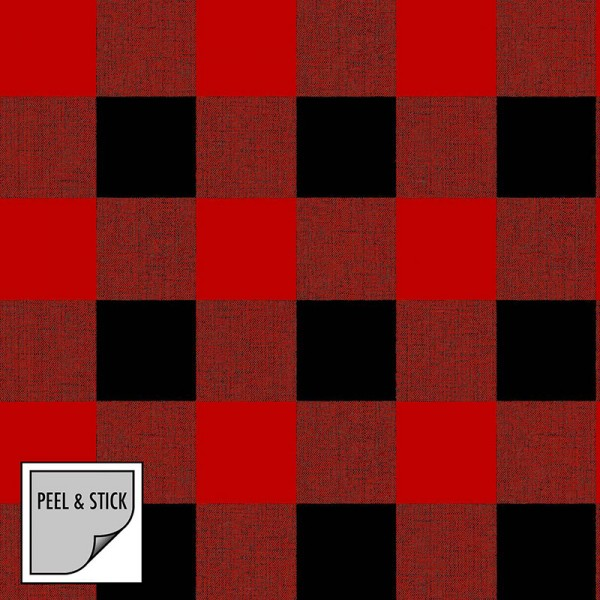Tapeten Rot Warm Plaid-639403