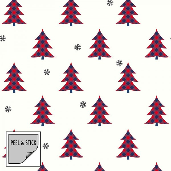 Peel and Stick Wallpaper Snow and Trees-343107