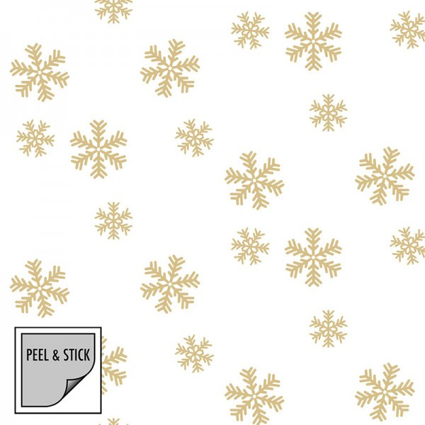Peel and Stick Wallpaper Falling Snow-117364