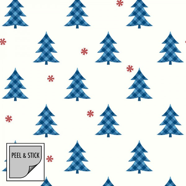 Peel and Stick Wallpaper Snow and Trees-237305