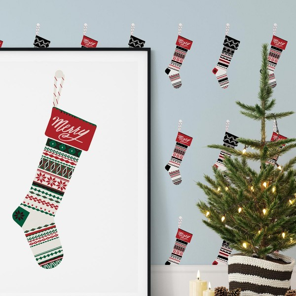 Peel and Stick Wallpaper Christmas Decor-181608