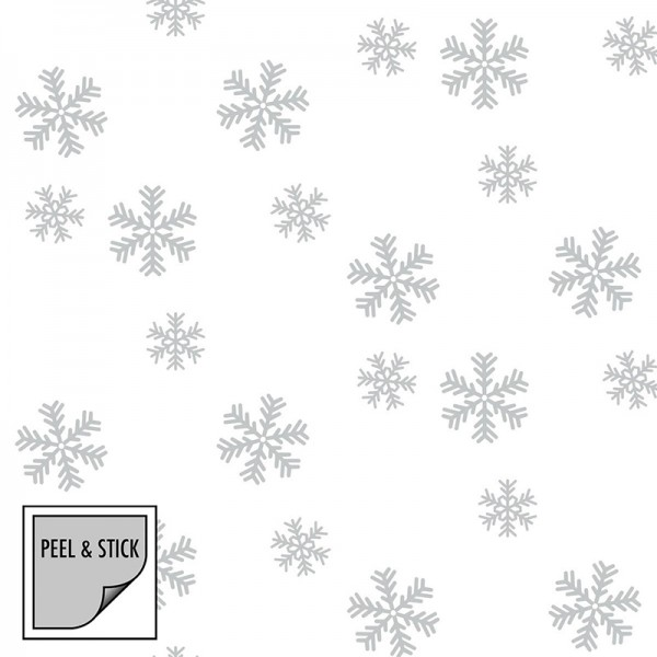 Peel and Stick Wallpaper Falling Snow-268594