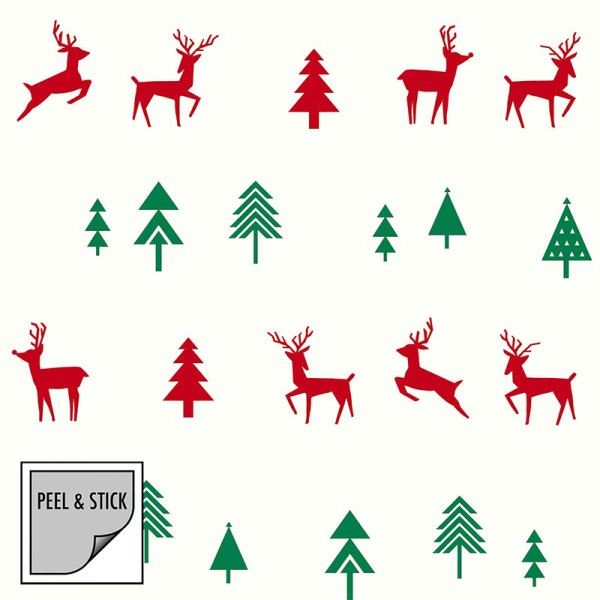 Peel and Stick Wallpaper Wild Christmas-220807