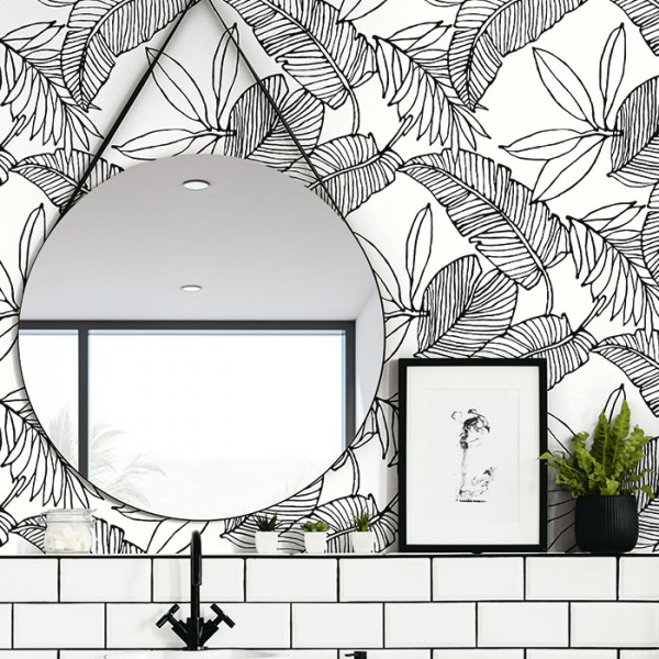 Floral wallpaper Palm Leave-299881