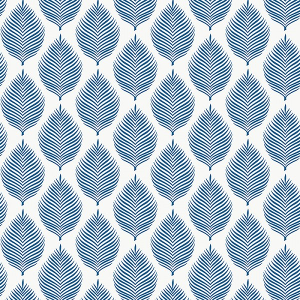 Floral wallpaper Wavy Leaves-162419