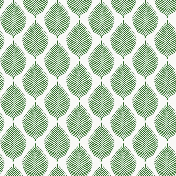 Floral wallpaper Wavy Leaves-493008