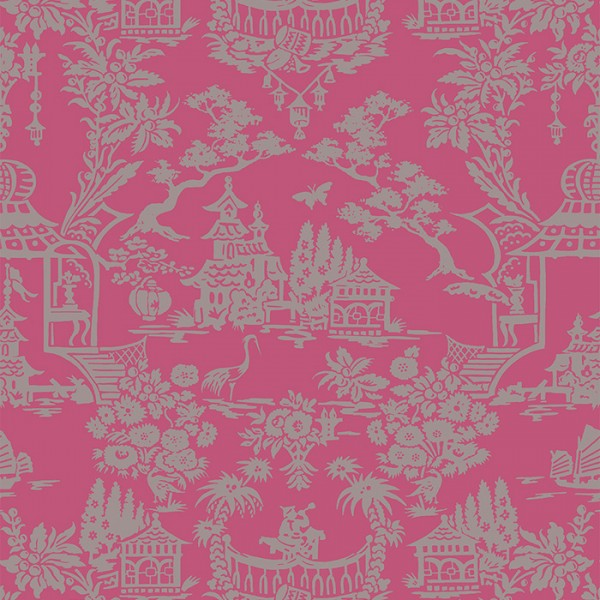 Wallpaper pink Scenic Chinoiserie-213352