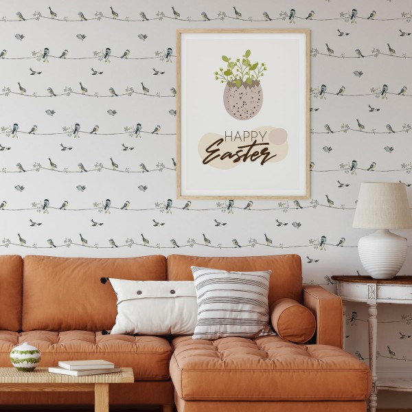Peel and Stick Wallpaper Spring Birds-126865