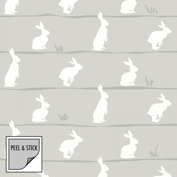 Peel and Stick Wallpaper Easter Bunnies-295904