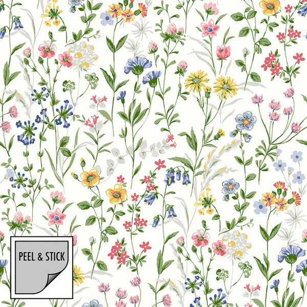 Peel and Stick Wallpaper Gentle Flowers-996634