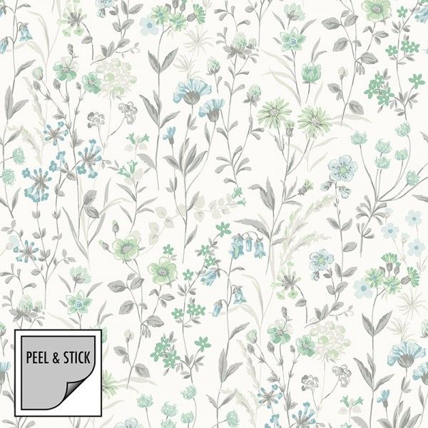 Peel and Stick Wallpaper Gentle Flowers-106735