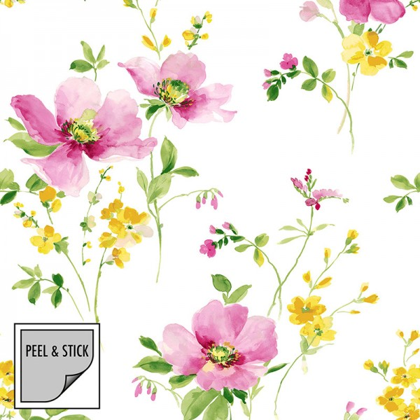 Peel and Stick Wallpaper Windflowers-505051