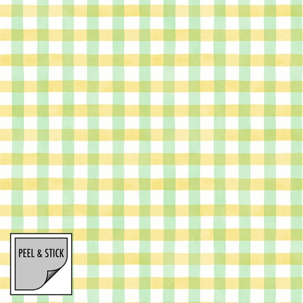 Peel and Stick Wallpaper Spring Plaid-133339