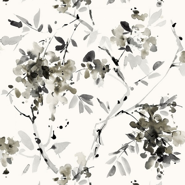 Wallpaper white Ink Floral-898080