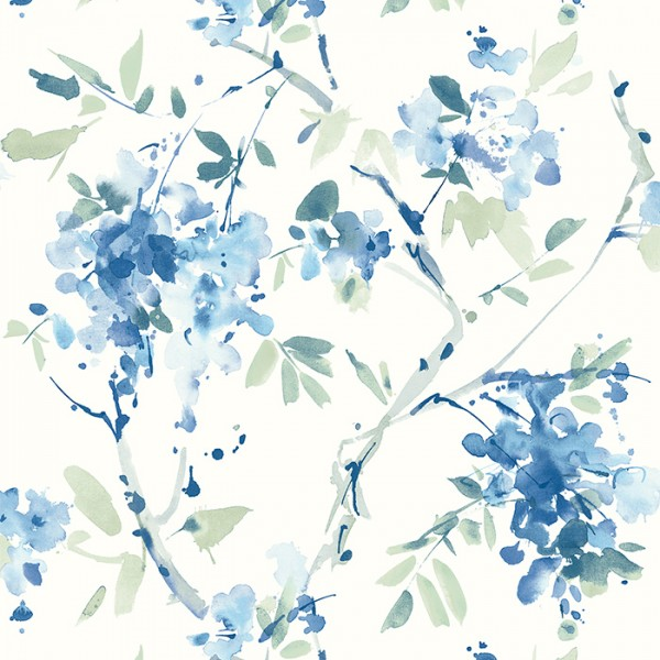 Wallpaper white Ink Floral-120130