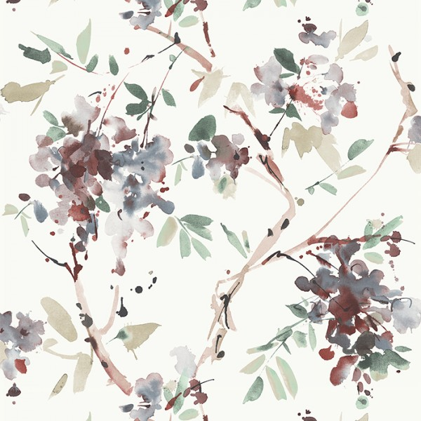 Wallpaper white Ink Floral-198973