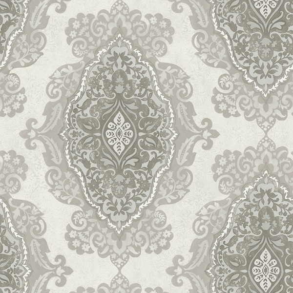 Wallpaper white Gypsy Medallion-209616