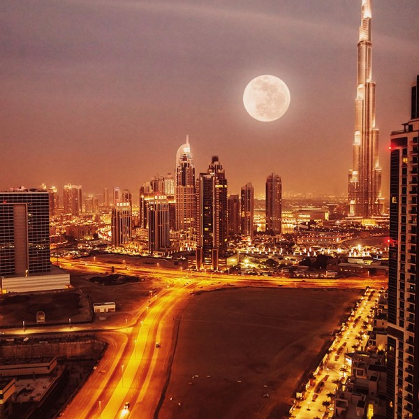 Murals Countries and Cities Night Dubai-CB62F4