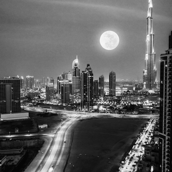 Murals Countries and Cities Night Dubai-9252B3
