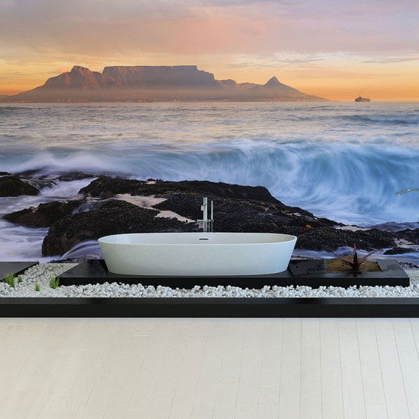 Murals Beaches and Waterfalls Cape Town  Mountains-F08468