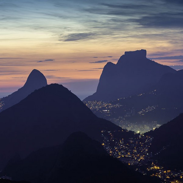Murals Mountains and forests Night Rio De Janiero-A33AB1