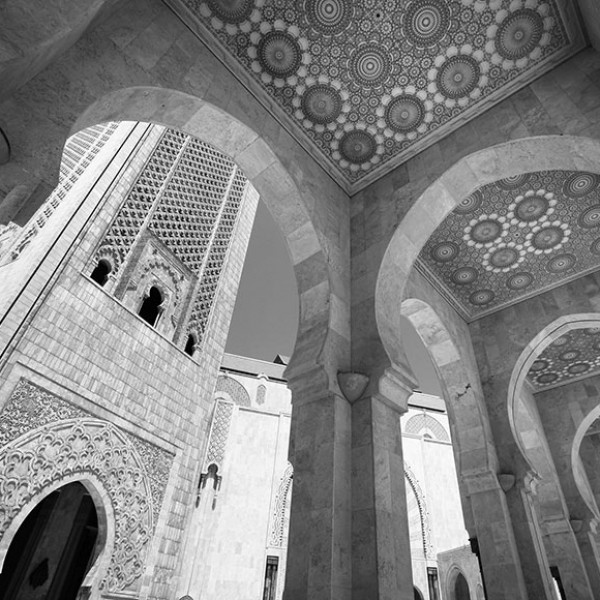 Murals Buildings and Towers Casablanca Mosque-8DD9B7