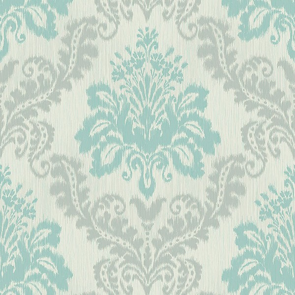 Baroque wallpaper Colored Damask-17D0CA