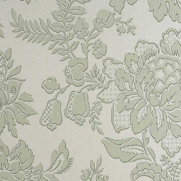 Floral wallpaper Ludington-CCA6E8